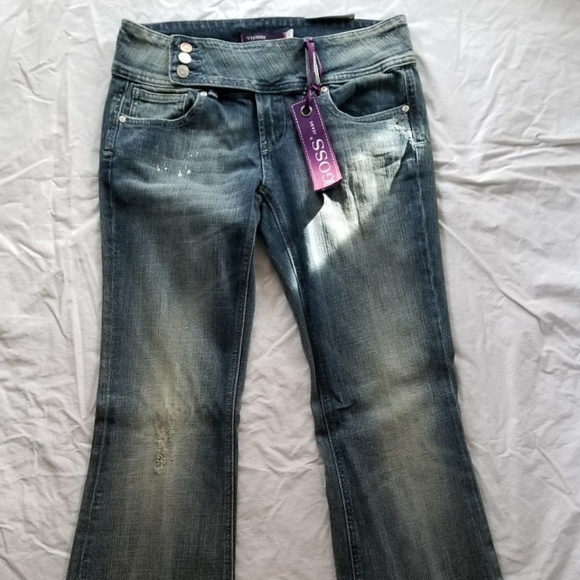 51b99cf03f2 Vigoss Jeans | Juniors 9 Stretch Super Flare Distressed | Poshmark